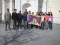 TIBET - studenti podpořili akci Vlajka pro Tibet